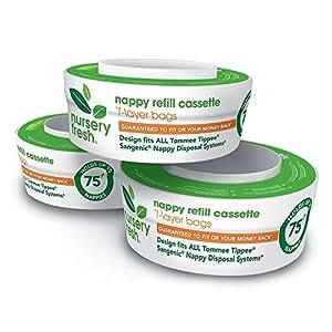 Nursery Fresh Nappy Refill Cassette Trio Pack