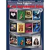 Easy Popular Movie Instrumental Solos for Strings: Cello, Book and CD