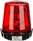 Compact Rotating Beacon, Warning Light, 117VAC, Red