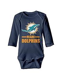 Baby Miami Dolphin 100% Cotton Romper Jumpsuit Romper Bodysuit Navy