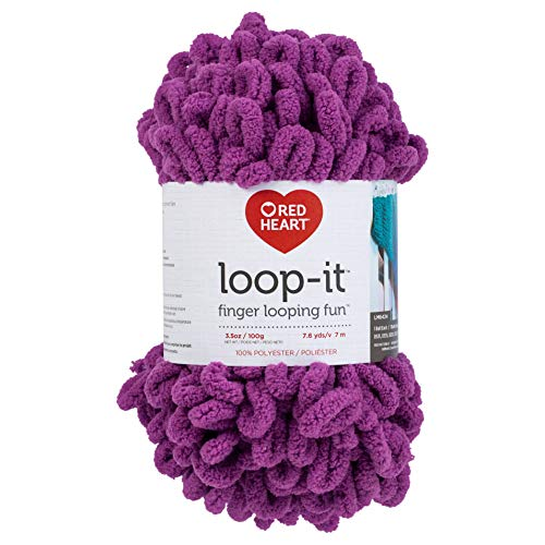 RED HEART E884.0753 Loop-It yarn Berry Gorgeous