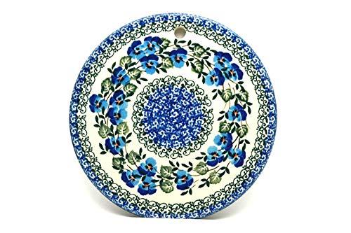 (Polish Pottery Cheese Board - Winter Viola )