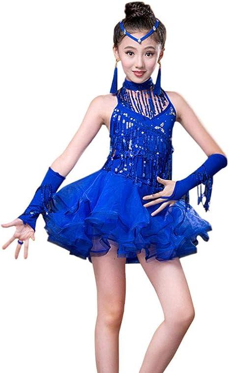 Tenthree Latina Salsa Baile Ropa Disfraces Niñas - Chicas ...