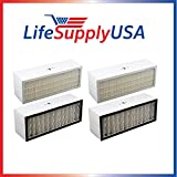 LifeSupplyUSA 2 Pack Replacement Filter to fit A1001B Bionaire Models LC1060 & LE1160 Air Cleaner Dual Filter Cartridge Review