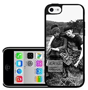 Black and White No New Friends 90's Grunge Hard Snap on Phone Case (iPhone 5c)