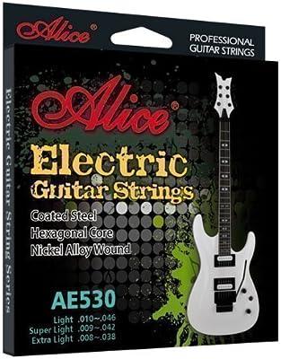 Cuerdas Guitarra Eléctrica - Anti Óxido - Conjunto de Calibre ...