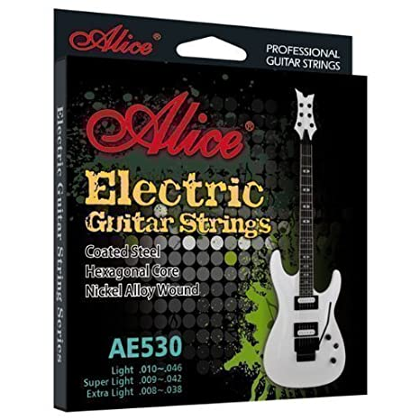 Cuerdas guitarra eléctrica - antioxidante - REGULAR calibre set (10-46)