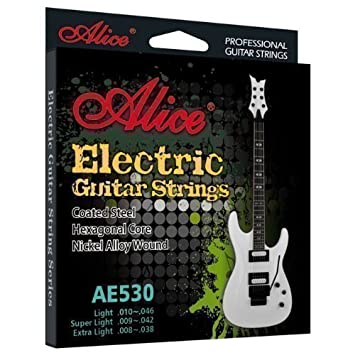 Cuerdas guitarra eléctrica - antioxidante - REGULAR calibre set (10-46): Amazon.es: Instrumentos musicales