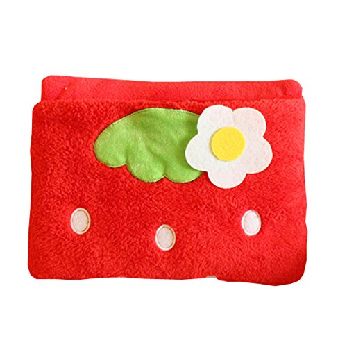 Lovely Cartoon Foldable Hold Pillow Car Office Nap Quilt Air Conditioning Blanket Pillow (red)