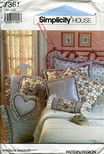 - Simplicity House Pattern 7361 ~ Marjorie Puckett Pillows, Shams and Pillowcase