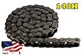 140H Heavy Duty Roller Chain 10 Feet with 1 Connecting Link