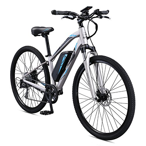 Schwinn Sycamore 350 Watt hub-drive, mountain/hybrid, electric bicycle, 8 speeds, wheel size Womens size (Medium)