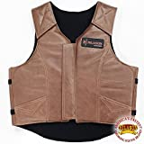 HILASON X Large Leather Bareback Pro Rodeo Horse Riding Protective Vest