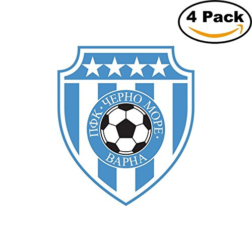 fan products of PFC Cherno More Varna Bulgaria Soccer Football Club FC 4 Stickers Car Bumper Window Sticker Decal 4X4