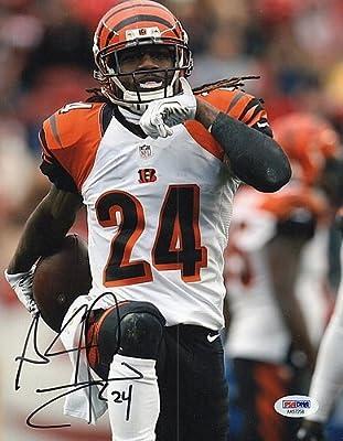 437870ce60a Amazon.com  Adam Jones Bengals Hand Autographed Color 8x10 Photo PSA ...