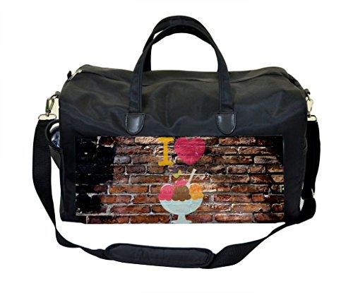 I Love Ice Cream Wall Art Print Design Weekender Bag by Lea Elliot (Image #2)