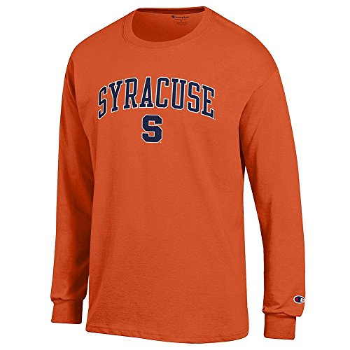 Elite Fan Syracuse Orange Men's Long Sleeve Arch Tee, Orange, Medium ()