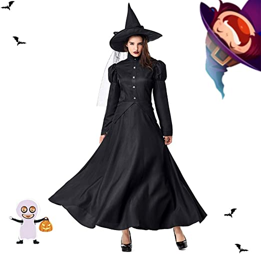 WFANX Disfraz de Halloween Disfraz de Bruja para Mujer con ...