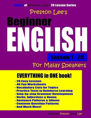 Preston Lee's Beginner English Lesson 1-20 For Malay Speakers PDF