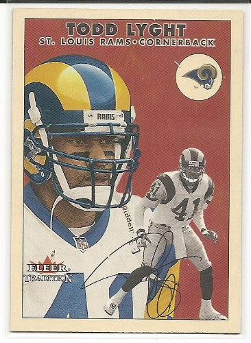 Todd Lyght 2000 Fleer Tradition Glossy St. Louis Rams Card #276 from Fleer Tradition Glossy