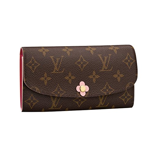 Louis Vuitton Monogram Canvas Emilie Wallet Pink Article: M64202 Made in France