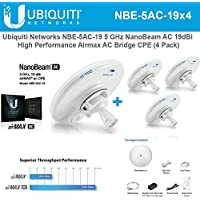 Ubiquiti NBE-5AC-19 4-PACK 5GHz NanoBeam AC 19dBi Airmax AC Bridge CPE airOS