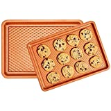 Copper Chef Diamond Bakeware 2-Pack Baking Tray Cookie Sheet Set (9x13 and 10x15) - Non Stick Chef-Grade Baking Pans…