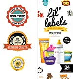 cup labels - Bottle Labels, Write-On, Waterproof Labels for Baby Bottles for Daycare, 2 Bonus Gifts (Animal Friends)