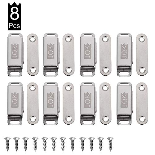 JQK Magnetic Cabinet Door Catch, Stainless Steel Closet Catches, Furniture Latch 15 -