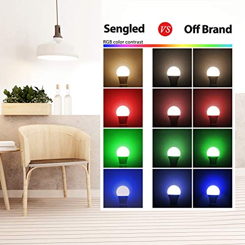 Sengled Smart Light Bulbs, Color Changing Light Bulb that Work with Alexa, Google Assistant, RGB Light Bulb, Alexa Light Bulbs A19 E26 Multicolor Bulb, Hub Required, 60W Equivalent, 800LM,1 Pack