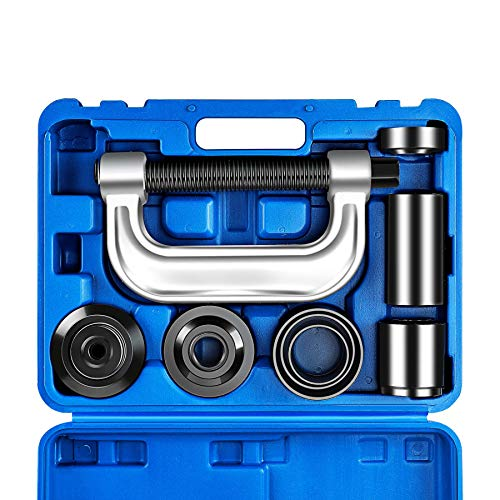 OrionMotorTech Heavy Duty Ball Joint Press & U Joint Removal Tool Kit with 4x4 Adapters, for Most 2WD and 4WD Cars and Light Trucks (BL) ()