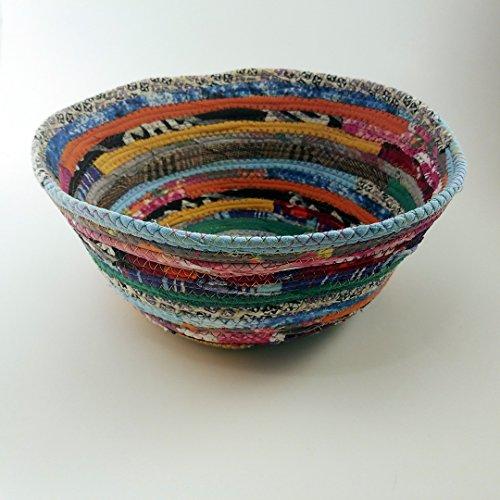 Multicolor Jewels Fabric Basket, Large 9