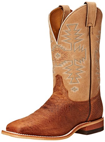 Chocolate Dakota Bent Rail Justin Cowhide Python Riding 11 Women's Boots Almond Boot Inch FO84w