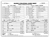 Glover's Scorebooks Volleyball Short form Scorebook (35 Matches)