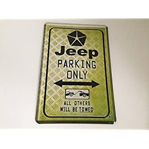 Plaque Jeep Parking Only