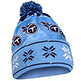 FOCO Tennessee Titans Exclusive Busy Block Printed Light Up Beanie