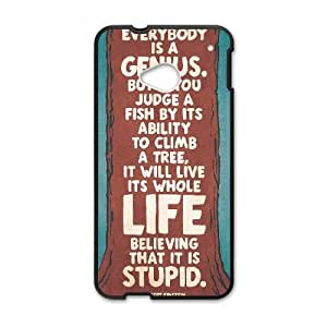 HTC One M7 Cell Phone Case Black_Proverb About Life Fctck