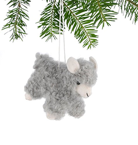 Adorable Woolly Sheep Ornament - One per Order (Grey)