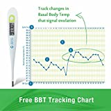 Clinical Basal Thermometer Waterproof Fertility Tracking with Accuracy to 1/100th(F) Best for Natural Family Planning and Testing Basal Body Temperature (BBT) Model Perfect for Ovulation Calculator