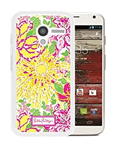 Popular Custom Designed Cover Case With Lilly Pulitzer 11 White For Motorola Moto X Phone Case