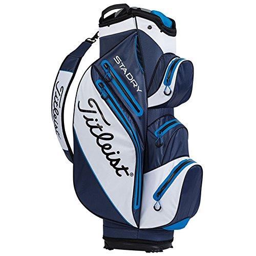 Titleist StaDry Waterproof Cart Bag, Navy/White/Blue - Titleist 14 Way Cart Bag