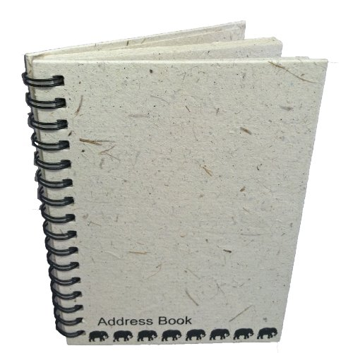 Mr. Ellie Pooh Elephant Dung Paper Address Book, Natural ...