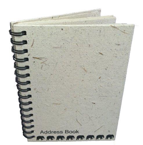 Mr. Ellie Pooh Elephant Dung Paper Address Book, Natural White (AB-Natural White) by Mr. Ellie Pooh