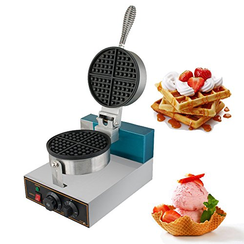 Denshine Commercial Waffle Bake Machine Electric Egg Cake Oven Puff Bread Maker 110V Stainless Steel Double-sided Pie Baking Pan for Home Restaurant (Shipping from US)