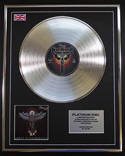 JUDAS PRIEST/LTD EDITION CD PLATINUM DISC/ANGEL OF RETRIBUTION