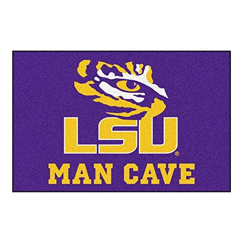 FANMATS 14564 Louisiana State University Nylon Universal Man Cave Starter Rug
