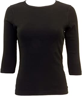 product image for Hard Tail Forever Crew Neck Three Quarter Length Sleeve Cotton Top Style T-181