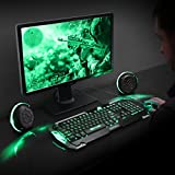 ENHANCE Computer Gaming Speakers LED with
