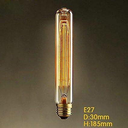 60w RSEN Vintage Edison Gl/ühbirne Gl/ühlampe E27 T185 Dimmbar 300lm 2300k Lampe R/öhren Fl/ötenrohr F/ür Nostalgie Und Retro-Industrie-Stil-Leuchtmittel