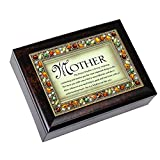 The Perfect Mother Italian Style Burlwood Decorative Mom Musical Music Jewelry Box Plays You Light Up My Life